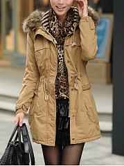 Hooded-Drawstring-Patch-Pocket-Longline-Coat