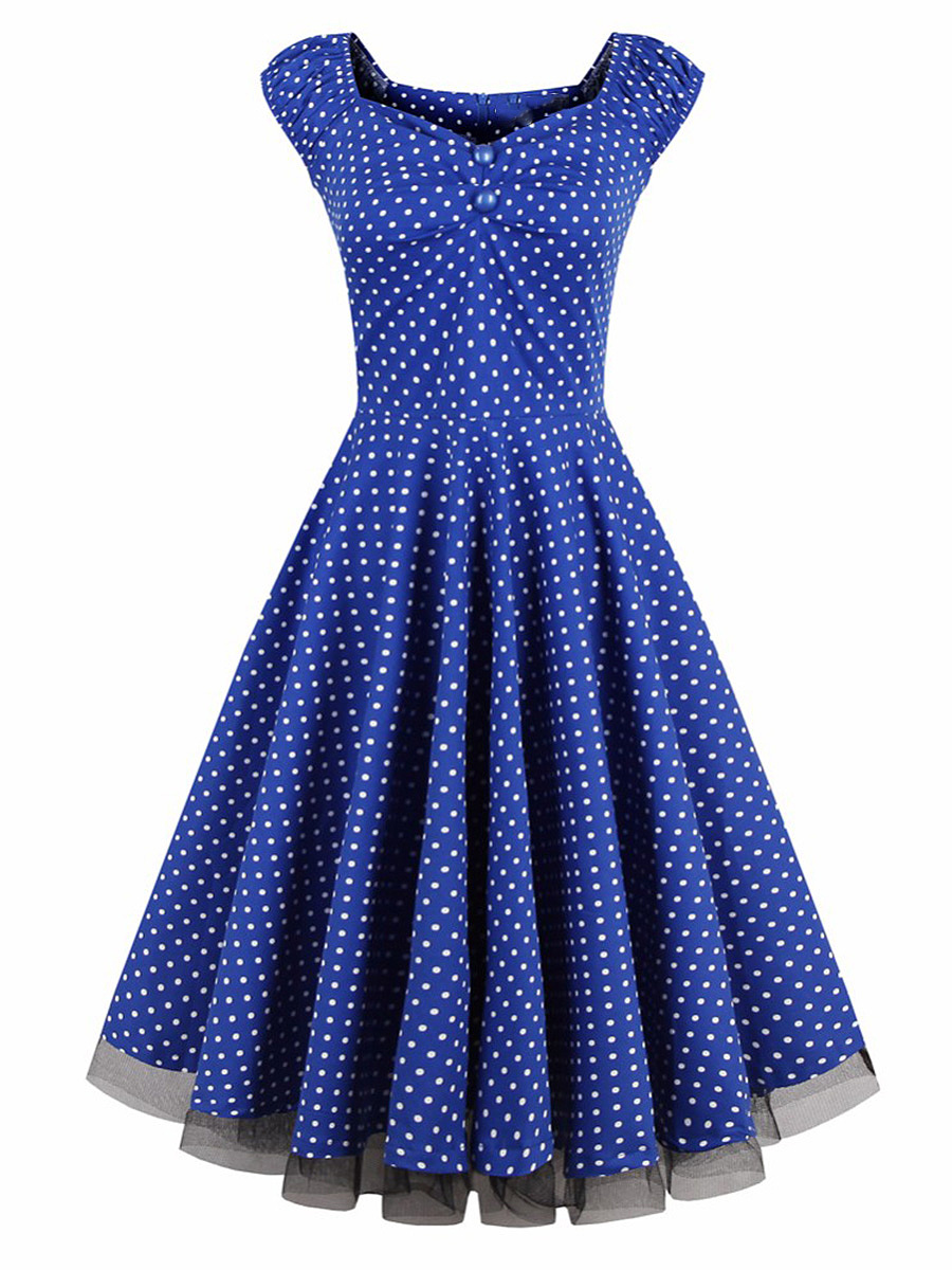 Sweet Heart Polka Dot Skater Dress