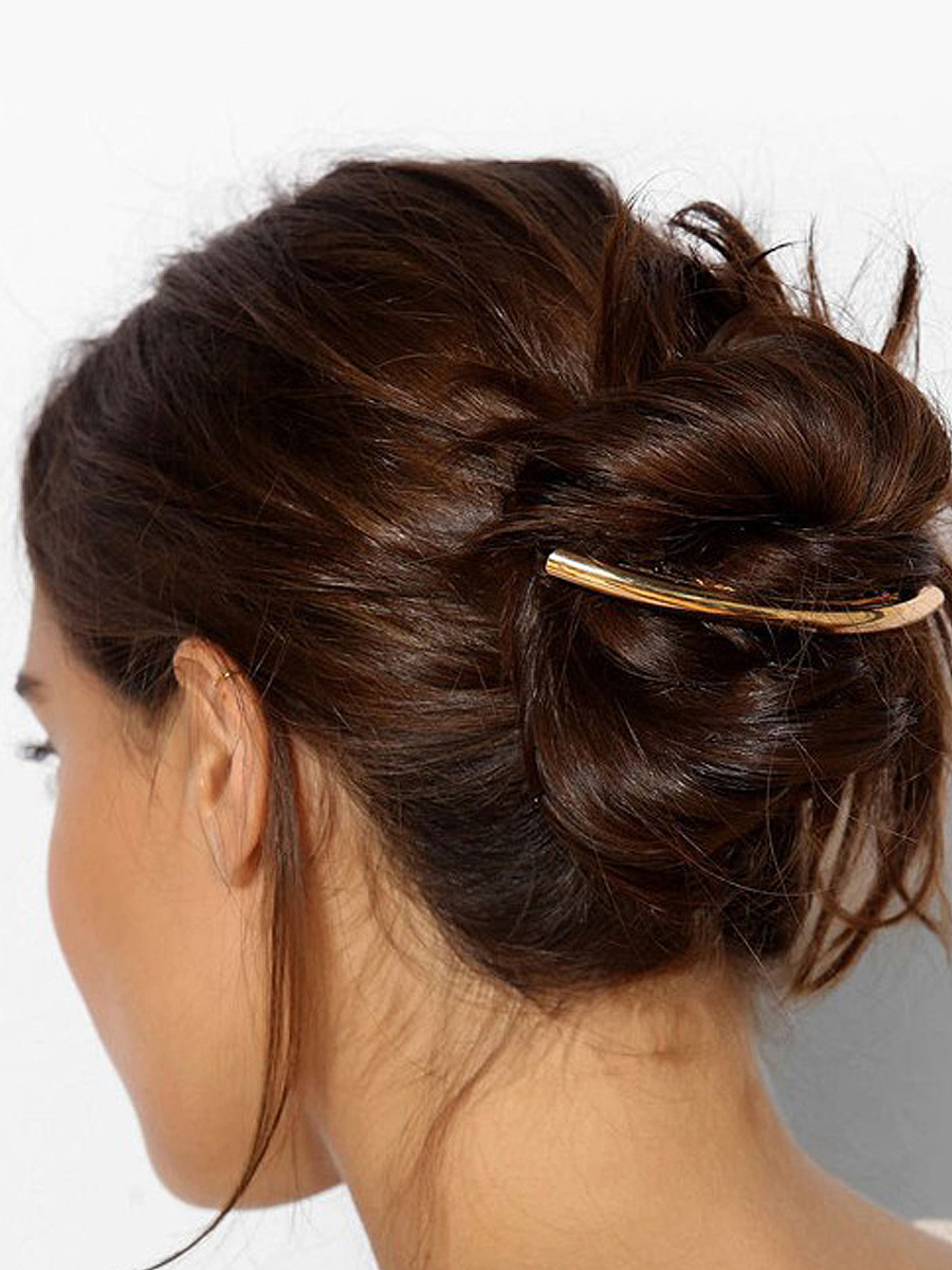 Simple Style Gold Hair Clip