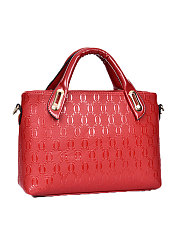 Three Pieces Red Simple And Chic Women Hand Bags