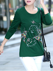 Round-Neck-Printed-Long-Sleeve-T-Shirt