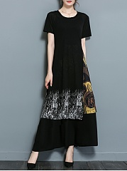 Round-Neck-Printed-Two-Piece-Maxi-Dress