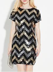 Round-Neck-Beading-Blend-Evening-Dresses