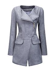 Awesome-Woolen-Lapel-Zips-Plain-Coat