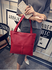 Pu Basic Squared Shoulder Bag