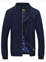 Band-Collar-Pocket-Plain-Men-Jacket
