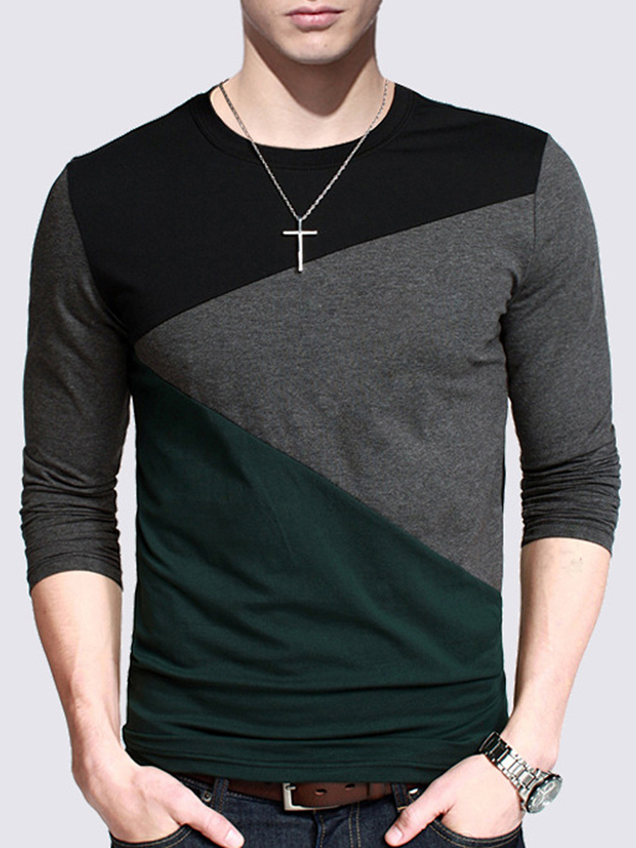 Fitted Men Round Neck T-Shirt
