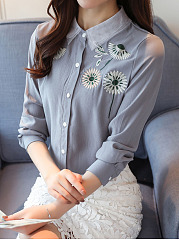 Button-Down-Collar-Embroidery-Floral-Blouses