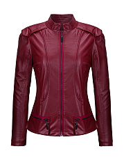 Band-Collar-Zips-Plain-Biker-Jackets