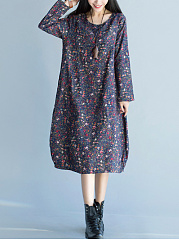 Round-Neck-Printed-Maxi-Dress