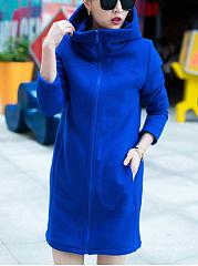 Hooded-Plain-Pocket-Longline-Coat
