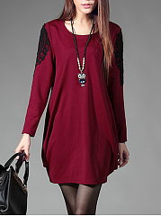 Round-Neck-Decorative-Lace-Shift-Dress