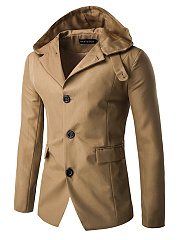 Hooded-Flap-Pocket-Single-Breasted-Vented-Plain-Men-Coat