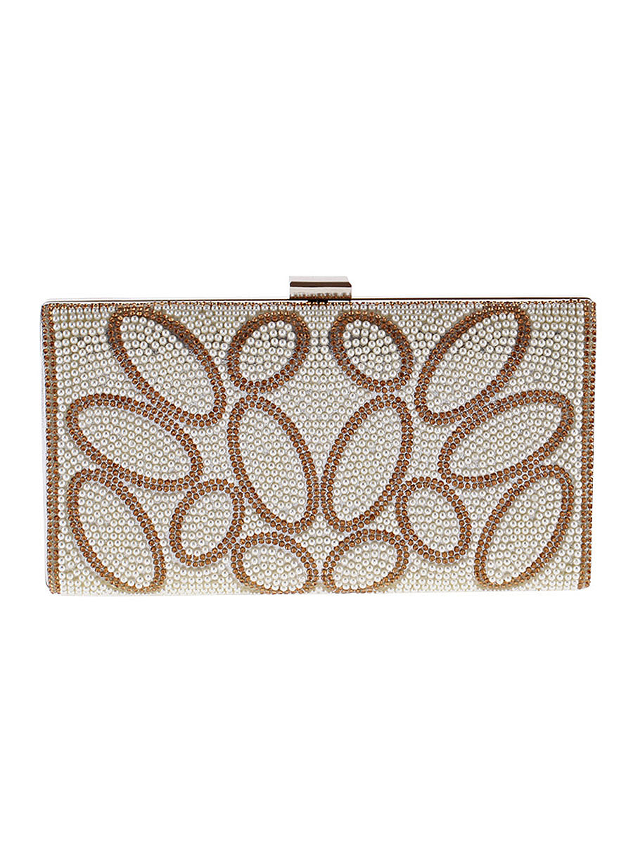 Geometric Diamante Clutch Bag