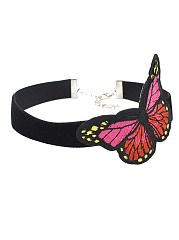 Butterfly Embroidery Choker Necklace