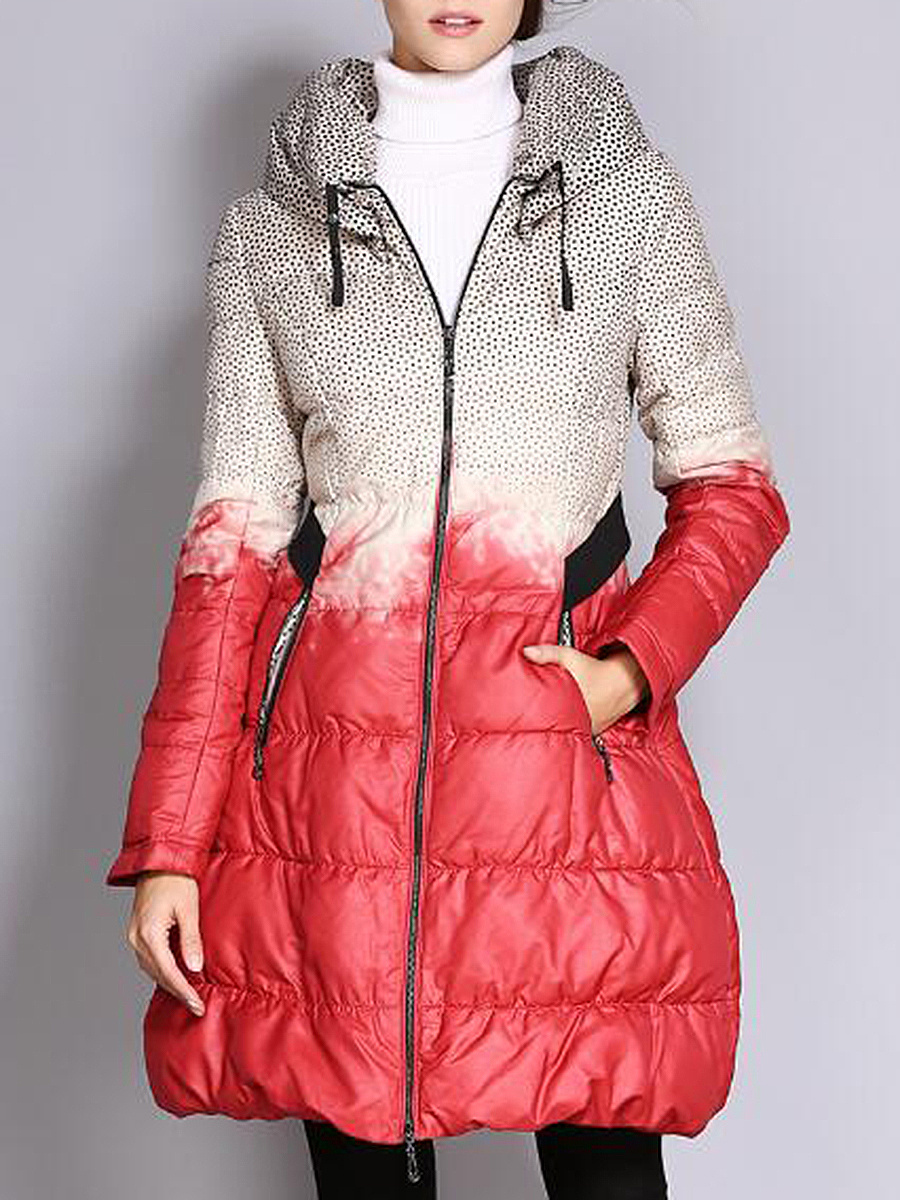 High Neck Color Block Pocket Quilted Padded Coat - fashionMia.com : quilted padded coat - Adamdwight.com