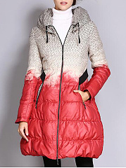 High-Neck-Color-Block-Pocket-Quilted-Padded-Coat