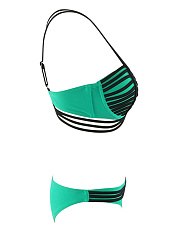 Designed Spaghetti Strap Push Up Strappy Bikini