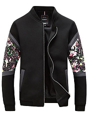 Stylish-Band-Collar-Pocket-Printed-Men-Jacket