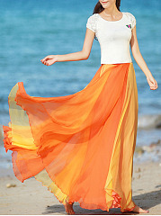 Two-Way-Color-Block-Flared-Maxi-Skirt