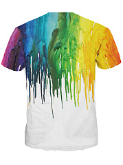 Round Neck Multi-Color Printed Men T-Shirt