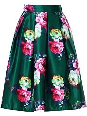 Gorgeous-Floral-Printed-Elastic-Waist-Flared-Midi-Skirt