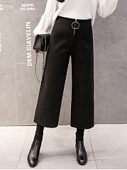 Hot-Western-Casual-Straight-Wide-Leg-Silk-Woolen-Zipper-Round-Circle-Pants