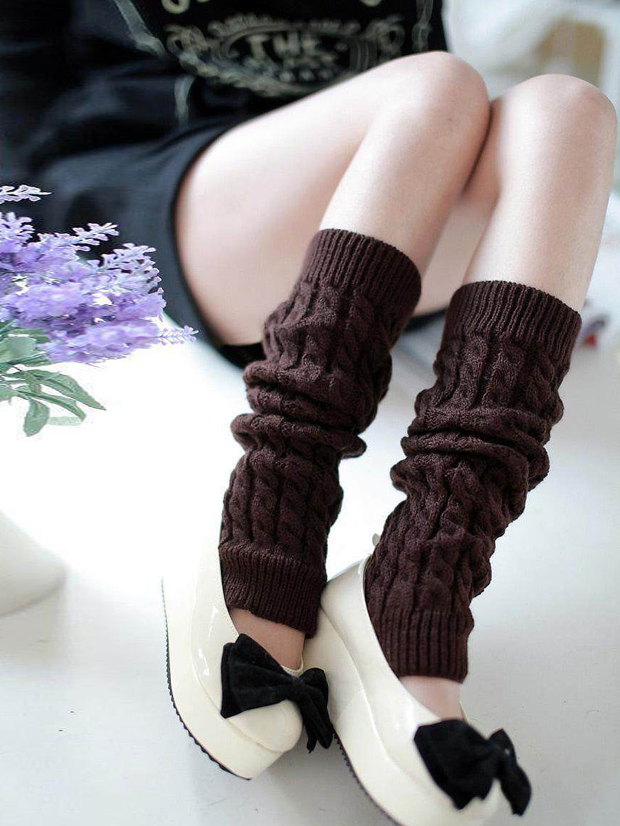 Knitting Boots Long Stocking Long Leg Warmers