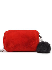 Small Chein Soft Faux Fur With Pompon Crossbody Bag