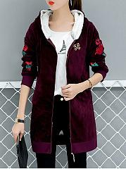 Hooded-Embroidery-Fleece-Lined-Velvet-Coat