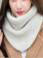 Fashion Cotton Kintted Plain Wool All-Match Wrap Collar Scarves