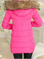 Casual Hooded Pocket Padded Coat