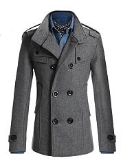 Men-Lapel-Plain-Double-Breasted-Pocket-Woolen-Coat