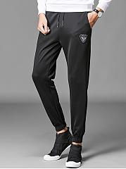 Elastic-Waist-Badge-Mens-Casual-Sport-Jogger-Pants