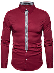 Designed-Plaid-Turn-Down-Collar-Men-Shirts