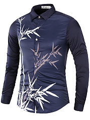 Bamboo-Printed-Long-Sleeve-Men-Shirts