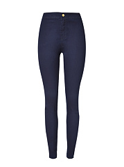 Patch Pocket  Plain  Slim-Leg  High-Rise Jeans