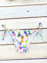 Halter Pineapple Printed Triangel Bikini