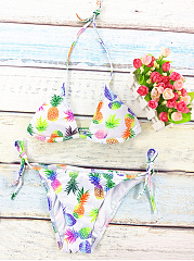 Halter-Pineapple-Printed-Triangel-Bikini