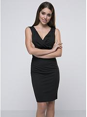 Elegant-V-Neck-Plain-Bodycon-Dress