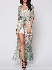Bohemian Split Chic V Neck Maxi-dress