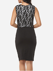 Lace Patchwork Elegant Bodycon Dress