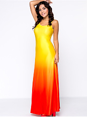 Gradient Sparkling Spaghetti Strap Maxi Dress