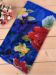 Grace Paris Yarn Scarf Travel Peony Flowers Breathable Scarves