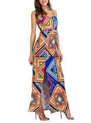 Colorful-Geometric-Spaghetti-Strap-High-Slit-Maxi-Dress