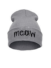 Fold Up Letters Beanie Hat