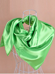 New Pure Color  Satin Square Scarf