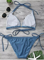 Adjustable Self Tie String Bikini Set