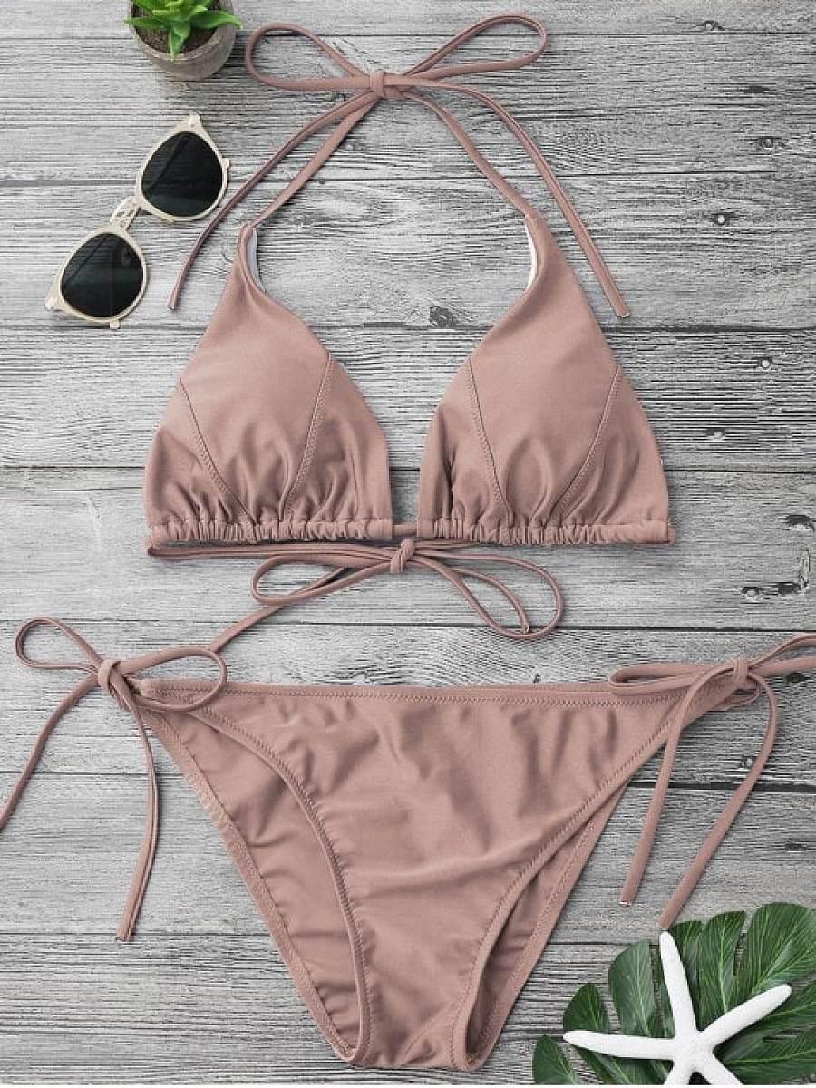 Adjustable Self Tie String Bikini Set