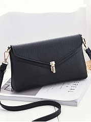 Plain Pu Crossbody Bag Envelope Bag